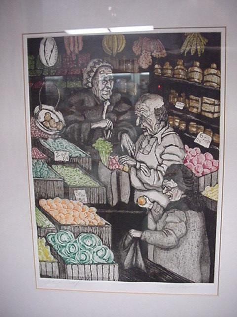 804: Artist Proof MARLAINA DEPPE Hand Colored Etching: