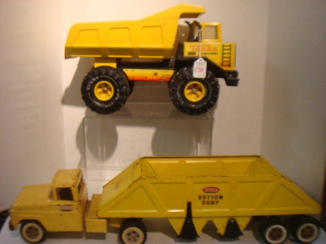 TONKA Dump Truck and Bottom Dump Truck: