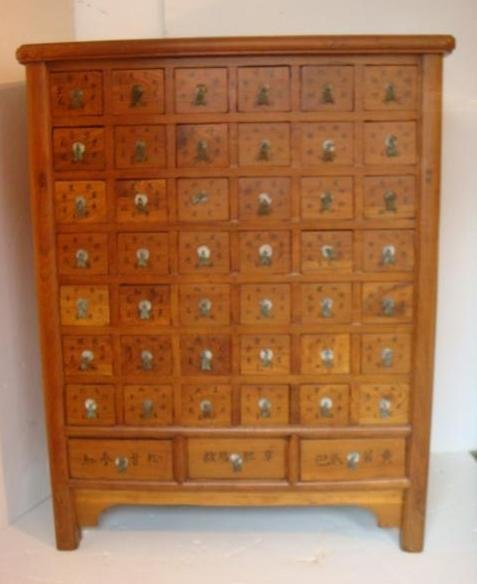 Drawer Asian Apothecary Cabinet: