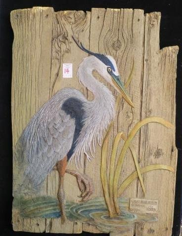Rustic Limited Edition Heron by G. Turner: