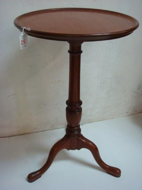 Mahogany Wooden Pedestal Candle Stand:
