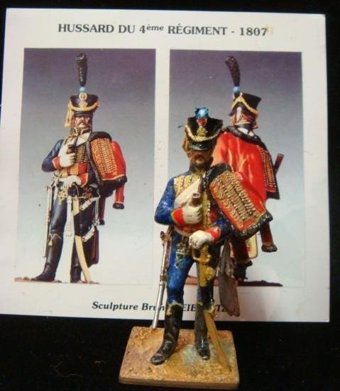 "54mm Model Soldier by B. Leibovitz ""HUSSARD 4th REGT"":"