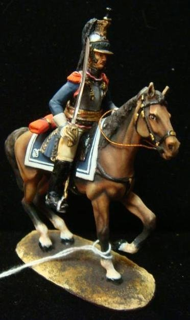 """54mm Model Soldier """"CUIRASSIER MOUNTED OFFICER"""":"""