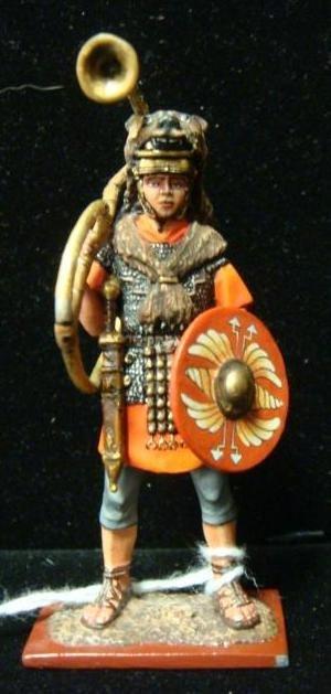 54MM Model Soldier, Roman Legionnaire, Trumpeter: