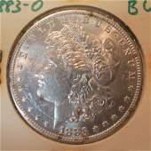 1883O MORGAN Silver Dollar, Brilliant Uncirculated: