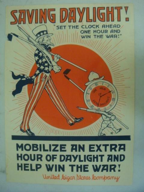 "Original World War I Poster, ""SAVING DAYLIGHT"":"