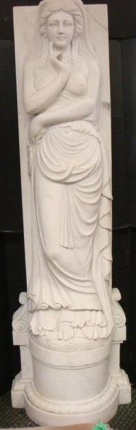 High Relief Marble Frieze Of Nymph Calypso Statue: