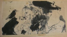 Rare & Early Walasse Ting Chinese Ink Brush Painting: