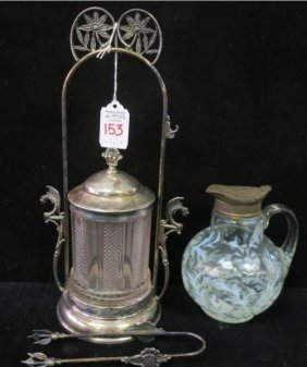 Victorian Syrup Pitcher And Pickle Caster: