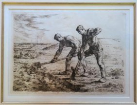 "Jean Millet ""the Diggers"" Etching:"
