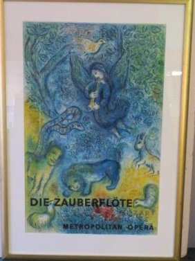"Marc Chagall ""magic Flute"" Pencil Signed Poster:"
