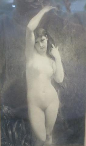 Jules Lefebvre Black And White Print Of Nude: