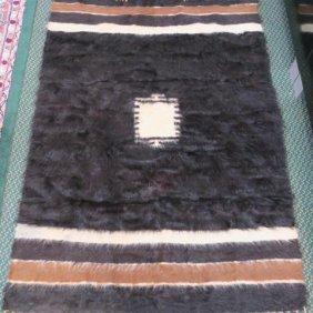 """Sioux Handwoven """"buffalo"""" Blanket:"""