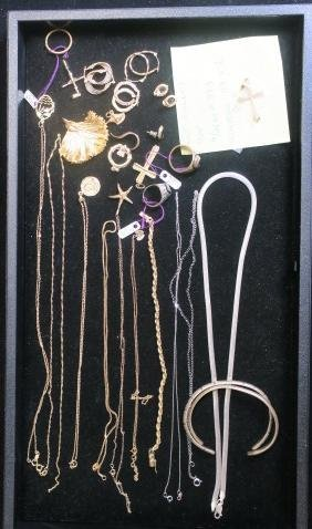 Collection Of 10k, 14k Gold And Sterling Jewelry: