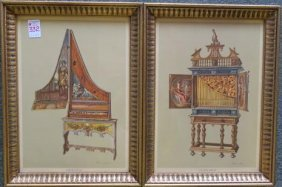 "Two ""signed"" Musical Chromolithographs:"