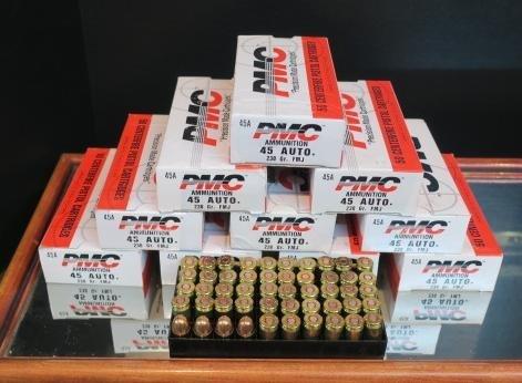 500 Rds. of PMC 45 AUTO Centerfire Pistol Cartridges: