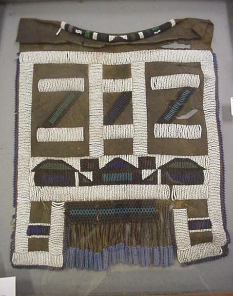 22, South African Beaded Leather Wedding Apron: Heavily