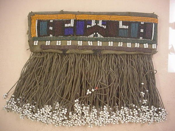 23, South African Beaded Leather Wedding Apron: Hand Be