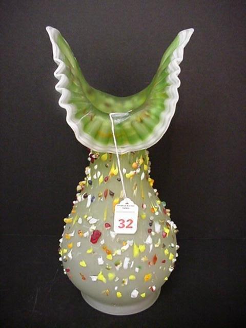 32, Signed E. ZAREH Handblown Bohemian Art Glass Vase:  - 2