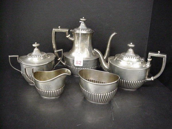 82, Whiting Mfg. Co. 5 Piece Sterling Tea Set: Includes
