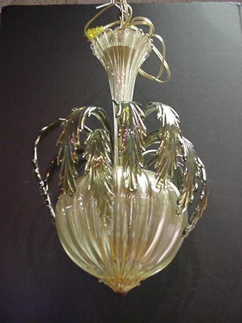 119, Venetian Glass 3 Light Hanging Lamp: Hanging Foyer
