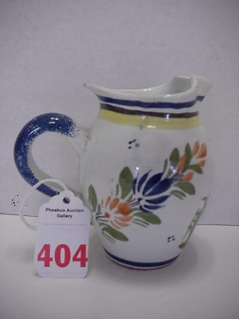 404: Henriot Quimper Hand Painted Peasant Ware Creamer: