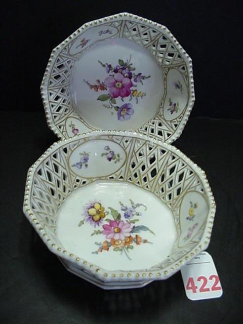 422: Royal Porcelain Nymphenburg Porcelain Bowls: