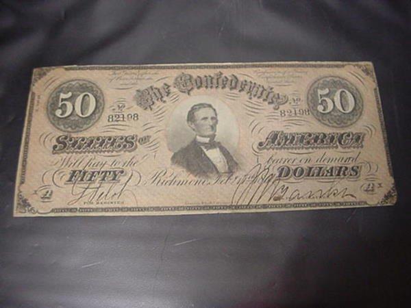 574: Confederate States Richmond VA 50 Dollar Bill: