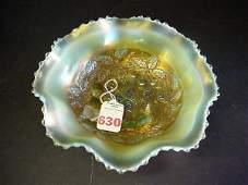 630 Rare Northwood 3 Fruits Medallion Carnival Glass B