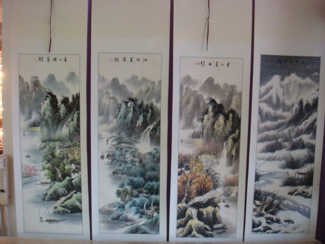 Chinese Landscape Scrolls of Four Seasons: