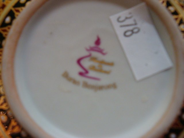 Buran Benjarong Thailand Box and Majolica Rooster: - 3