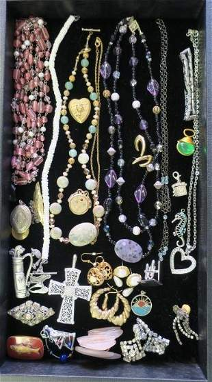 Assortment of Costume Jewelry:
