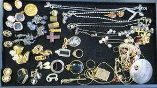 1928 Collection Locket and Other Costume Jewelry: