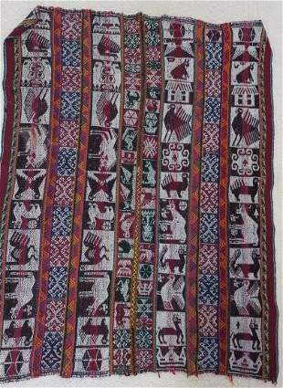 Woven Tapestry From Peru:
