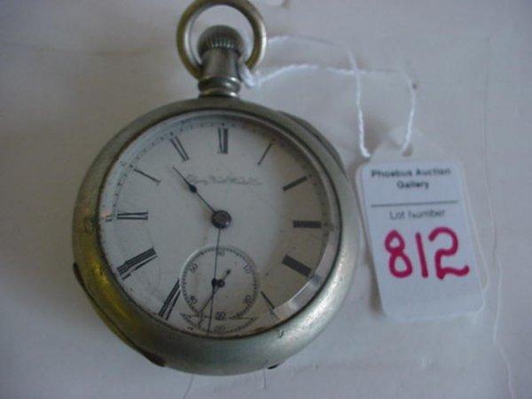 Elgin 1888 Silveroid Wheeler Pocket Watch: