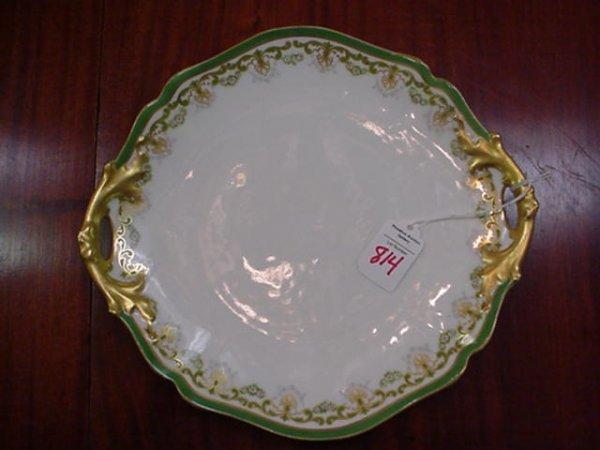 Beroard & Co. Limoges Double Handled Plate: