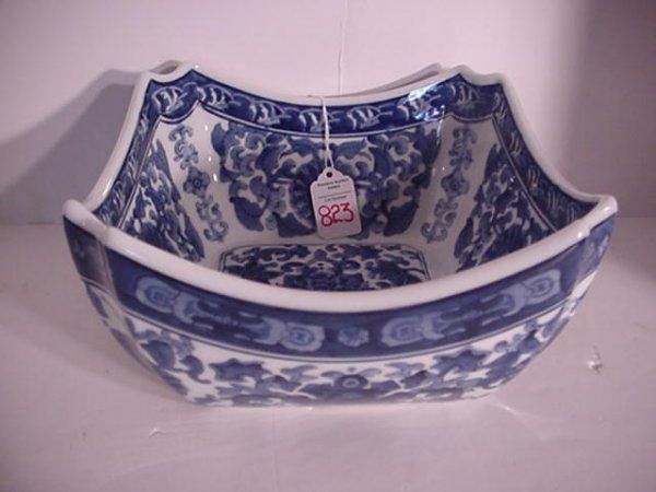 Arita Style Porcelain Blue and White Bowl: