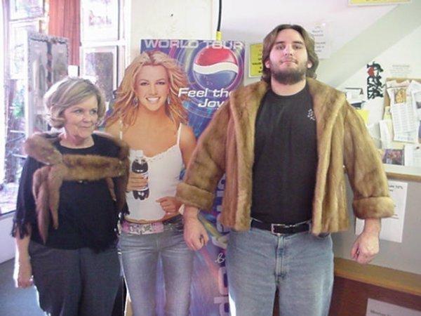 Peltz Blond Mink Jacket and Biting Mink Boa Scarf:
