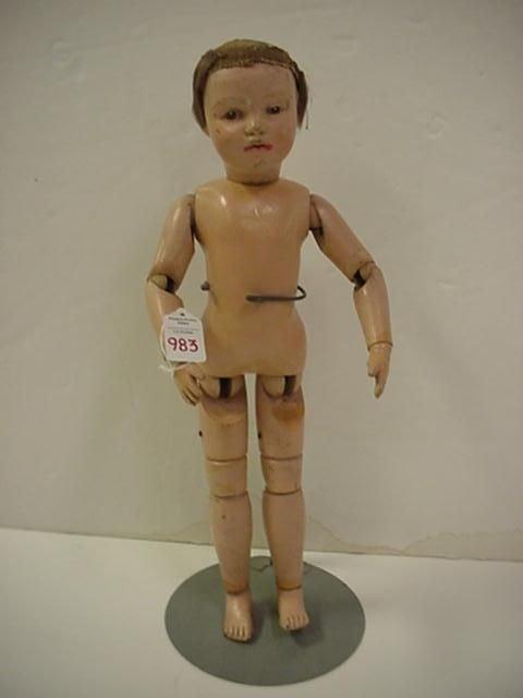 Schoenhut Wooden Jointed Doll: