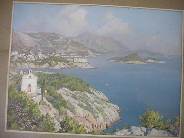 JOHANN SEITS Baltic Coastline Watercolor: