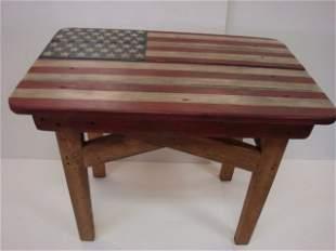 DONALD LEVINER, Folk Art American Flag Table: