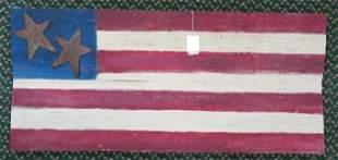 DONALD LEVINER, Folk Art American Flag on Board: