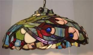 Tiffany Style Peacock Pendant Ceiling Light: