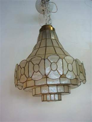 Vintage Capiz Shell Chandelier: