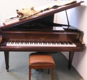 1958 William Knabe & Co. Mahogany Baby Grand Piano: