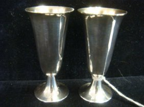 Pair Of Tiffany & Co Sterling Cordials: