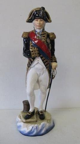 "Michael Sutty ""lord Nelson, 1805"" Porcelain Figurine:"