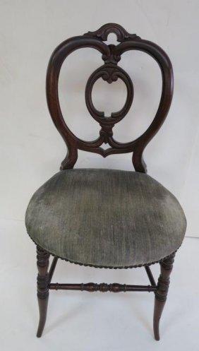 Single Rococo Mahogany Side Chair:
