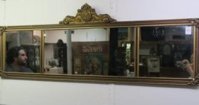 Three Section Over Mantle Mirror: