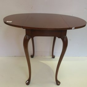 Queen Anne Drop Leaf Side Table: